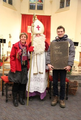 Saint Nicolas et ses assistants, Anne-Françoise et... Nicolas
