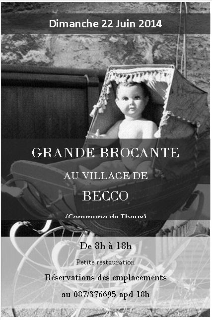 La brocante à Becco aura lieu le dimanche 22 juin!