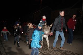 En route pour la promenade à dos d'âne !