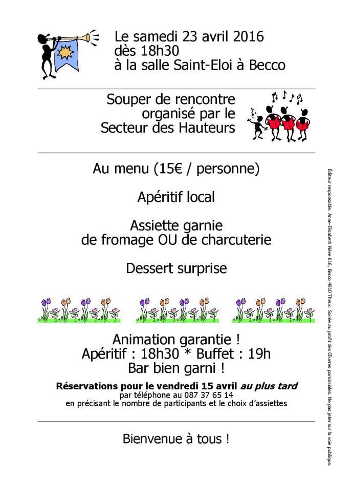 2016 Invitation Souper des Hauteurs